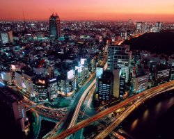 Expensive Holiday City, Tokyo, Japan, City night view