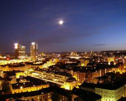 Expensive Holiday City, Oslo, Norway, City night view