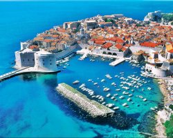 Extended Weekend Holiday, Dubrovnik, Croatia, City harbor aerial view