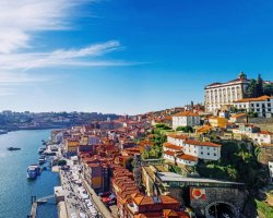 Extended Weekend Holiday, Porto, Portugal, City aerial view