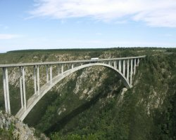 Bungee Jumping Extreme, South Africa, Bloukrans bridge overview