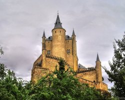 A fairytale castle, Alcazar of Segovia, Spain, The Castle in summer