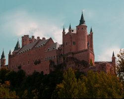 A fairytale castle, Alcazar of Segovia, Spain, Panoramic view
