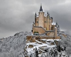A fairytale castle, Alcazar of Segovia, Spain, The Castle in winter
