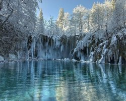 February Holiday, Croatia, Europe, Plitvice national park close
