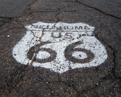 Few Attraction, USA, Route 66 sign