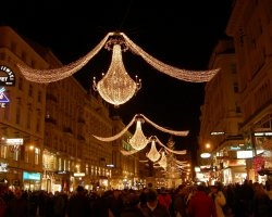 Five Dream Destinations, Vienna, Austria, Christmas night on streets