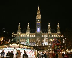 Five Dream Destinations, Vienna, Austria, Christmas Market at night