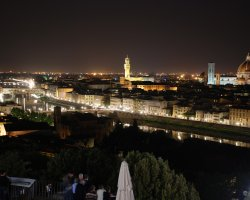 Florence, Italy, City at night