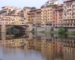 Florence, Italy, Florence reflected in the river