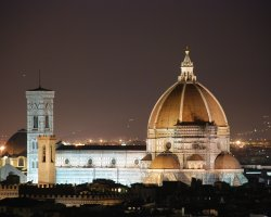 Florence, Italy, Il Duomo at night