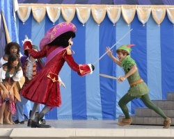 Florida, U.S.A., Disney World Peter Pan acting