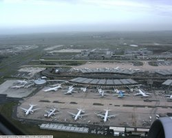 France Holiday, Paris, Charles De Gaulle Airport terminal 1 plane view