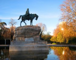 Free attractions holiday, Madrid, Spain, El Parque del Buen Retiro, General Arsenio Martinez Campos