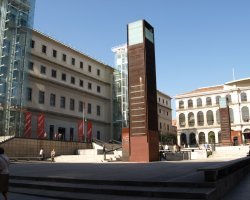 Free attractions holiday, Madrid, Spain, Museo de Reina Sofia outside view
