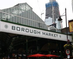 Fresh Food Market, London, England, Borough Market front entrance