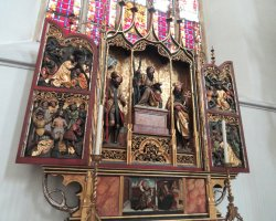 Germany Holiday, Munich, Germany, Frauenkirche interior altar