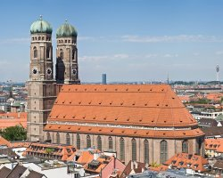 Germany Holiday, Munich, Germany, Frauenkirche aerial view