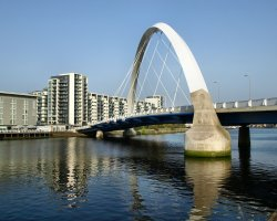 Glasgow, Scotland, UK, Bridge Clyde Arc
