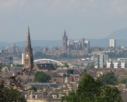 Glasgow, Scotland, UK, View from Queens Park
