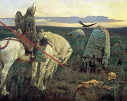 Groningen Museum, Netherlands, Viktor Vasnetsov paint, Knight on a crossroad