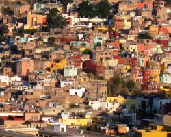 City of Mummies, Guanajuato, Mexico, City colored buildings