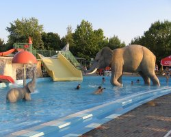 Hajduszoboszlo, Hungary, Water Park with elephant statue