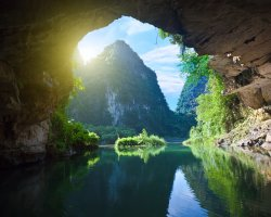 Happiness Holiday, Vietnam, Asia, Cave inside view