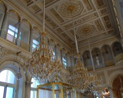 Hermitage Museum, St Petersburg, Russia, Pavilion Room candelabre