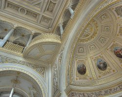 Hermitage Museum, St Petersburg, Russia, Pavilion Hall ceiling