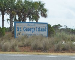 Hiking Summer Destination, Island Saint George, Florida, Welcome sign