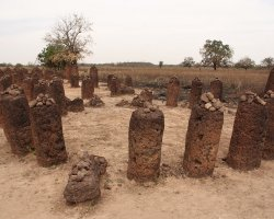 History Holiday, Senegambian Stone Circles Sine, Wassu close upview