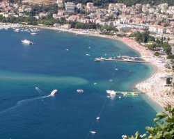 2013 Destination Holiday, Montenegro, Europe, Beach aerial view