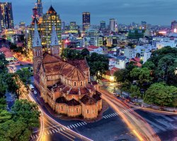 Holiday maze, Ho Chi Minh, Vietnam, City alive