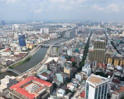 Holiday maze, Ho Chi Minh, Vietnam, City aerial view