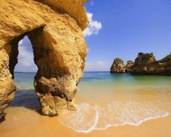 Beaches from Portugal, Algarve, Portugal, Rocks and beach