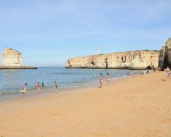 Beaches from Portugal, Caneiros, Portugal, Beach with tourists