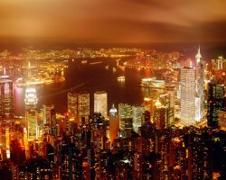 Hong Kong, China, Night view