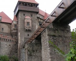 Hunyad Castle, Romania, Under the bridge overlook
