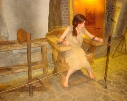 Unusual Holiday, Hunedoara, Romania, Hunyad Castle torture chamber exhibition