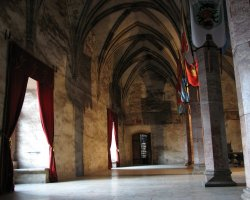 Unusual Holiday, Hunedoara, Romania, Hunyad Castle interior hall
