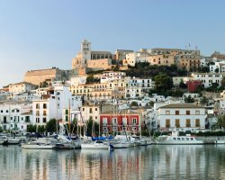 Ibiza, Spain, City on a sunny day