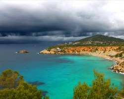Ibiza, Spain, Storm opon the beaches