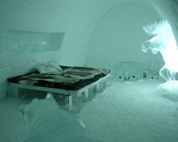 Ice Hotel Holiday, Quebec, Canada, Hotel de Glace, Room view