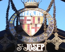 Impressive Markets, Piazza San Josep of Boqueria, Barcelona, Spain, Entrance sign