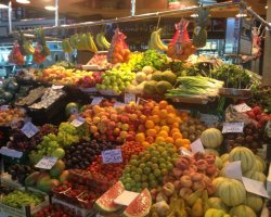 Impressive Markets, Piazza San Josep of Boqueria, Barcelona, Spain, Fruit stand