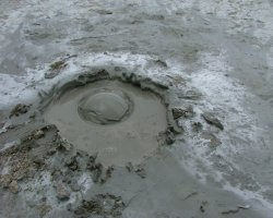 Impressive Holiday, Mud Volcanoes, Buzau, Romania, Mud bubbles