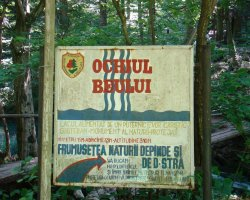 Impressive Holiday, Lake Ochiul Beiului, Romania, Lake sign
