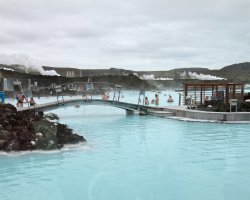 Impressive Swimming Pool, Iceland, Europe, Resort Blue Lagoon overview