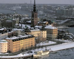Stockholm, Sweden, City view on winter